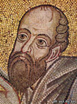 Apostle Paul, Detail Mosaic The Eucharist, St. Sophia Cathedral in Kiev
