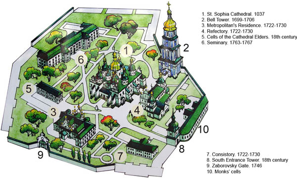 Plan of St. Sophia Cathedral museum grounds