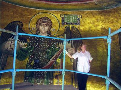 Мозаика Архангели Софийский Собор