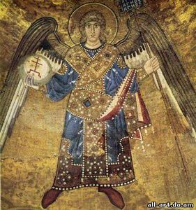 Мозаика Архангели. Фрагменты Софийский Собор