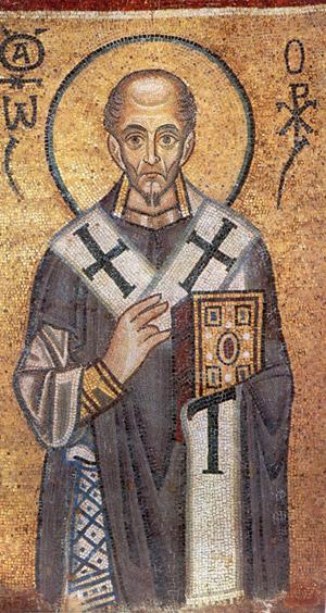 Иоанн Златоуст Софийский Собор Мозаика алтаря