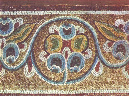Растительный орнамент алтарной конхи Софийский Собор