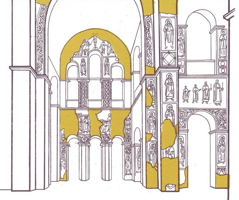 Софийском соборе фрески XI