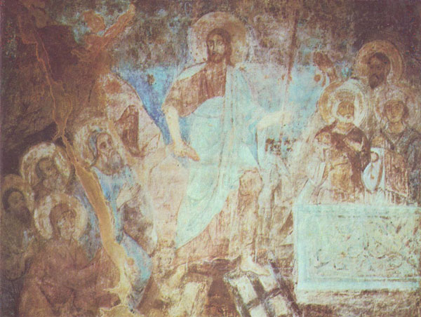 fresco Christ's Descent into Hell Sofia Cathedral