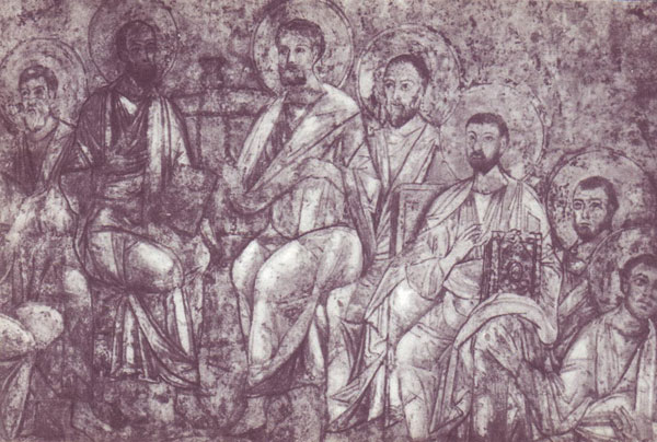 Сошествие Святого Духа фреска Софийский Собор