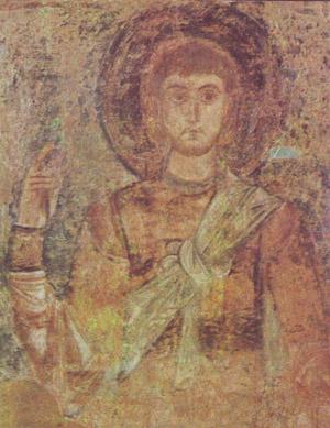 фреска Воин Софийский Собор