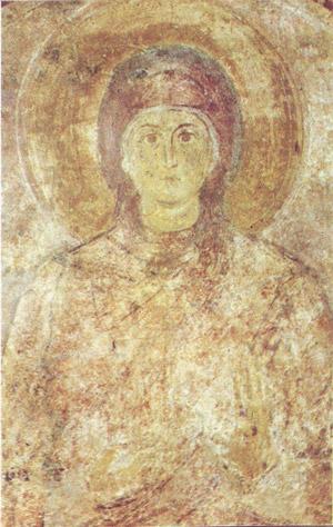 фреска Неизвестная святая Софийский Собор