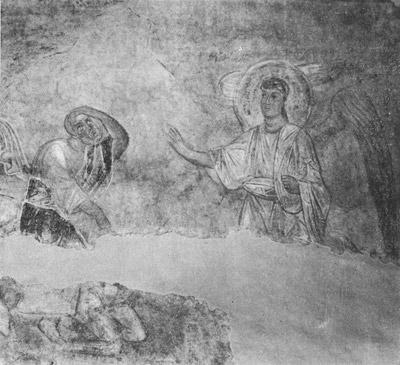 фреска Явление архангела Валааму Софийский Собор