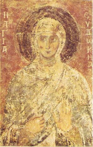 фреска Святая Евдокия Софийский Собор
