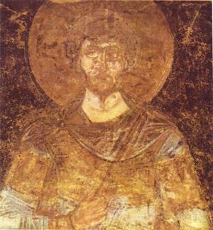 фреска Святой Федор Стратилат Софийский Собор