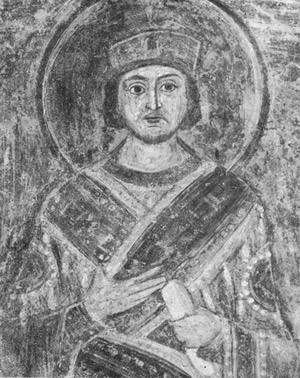 фреска Император Юстиниан Софийский Собор