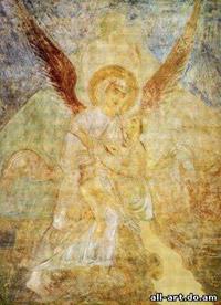 фреска единоборство архангела Михаила с Иаковом Софийский Собор