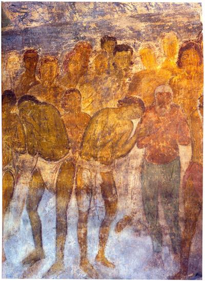 фреска Сорок Севастийских мучеников Софийский Собор