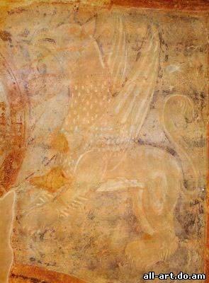 фреска Грифон Фрагмент Софийский Собор