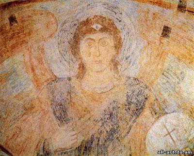 фреска Святой Георгий Фрагмент Софийский Собор
