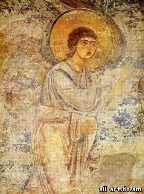 фреска Благовещение Архангел Гавриил Фрагмент Софийский Собор