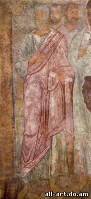 фреска Уверение Фомы Христос и Апостолы Фрагмент Софийский Собор